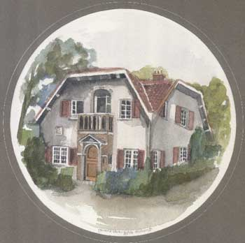 [a painting of a Dutch house]