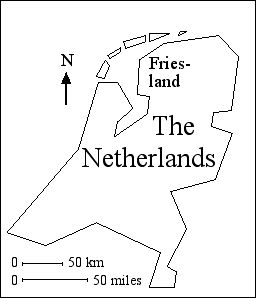 [A map of Holland, showing the province of Friesland]