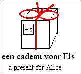 [a wrapped present with the name 'Els']