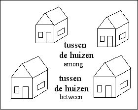 [between and among houses]