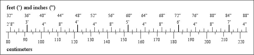 [a bar chart comparing imperial and metric dimensions]