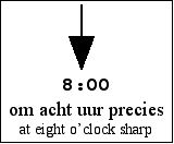 [an arrow pointing to '8:00']