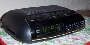 [radio alarm clock]