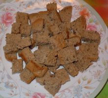['little soldiers' - homemade croutons]
