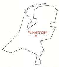 [Map showing Wageningen in The Netherlands]