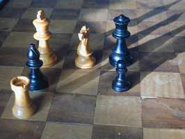 [chess pieces, one of each kind]