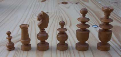 [the white chess pieces]