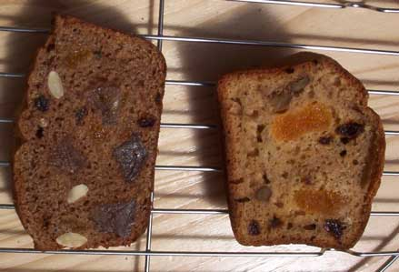 ['gingerbread' and 'banana bread']