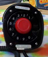 [old rtelephone set's rotary dial]