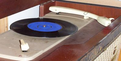 [a record player form the fifties]