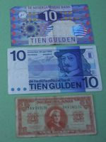 [old Dutch banknotes]