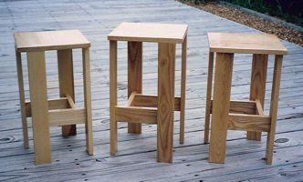 [three stools of my own design and making]