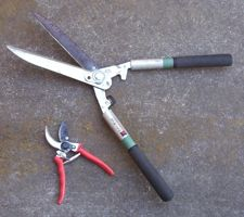 [pruning clippers, hedge cutter]