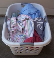 [laundry basket with laundry]