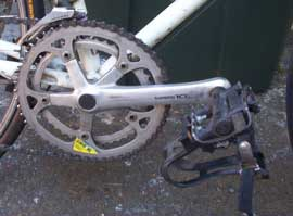[bicycle cog wheel and pedal]
