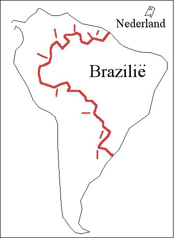 [Map Showing the size of Brazil and Holland]